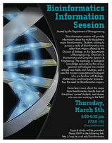 Undergraduate Bioinformatics Information Session flyer