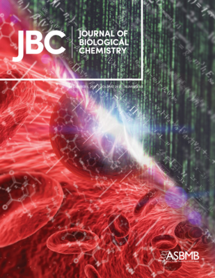 Journal of Biological Chemistry cover Dec 1, 2017; illustrates human red blood cell metabolic network